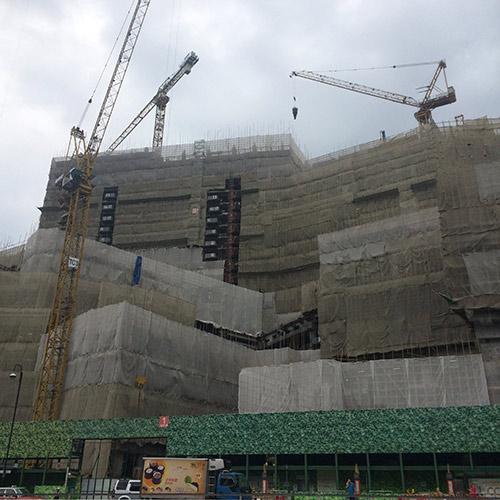 香港の工事現場
